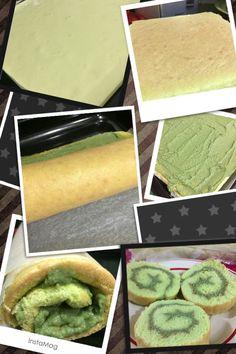 Pandan kaya Swiss roll Recipe link - http://happyflour.blogspot.my/2011/07/pandan-kaya-swiss-roll.html?m=1