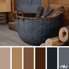 Rustic basket (object) Amazing Living room color scheme love, love, love.