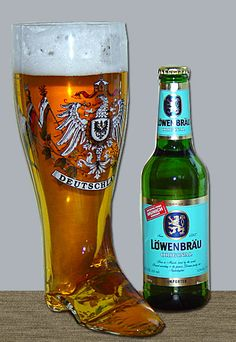 "A German ""beer boot"" ""Tonight Is kind of special"" Sing it! ""The beer well pour must be something special somehow..."" """
