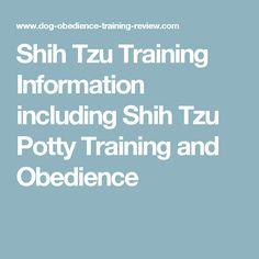 Shih Tzu Training Information including Shih Tzu Potty Training and Obedience