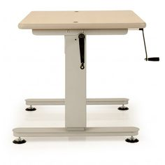Delicieux Height Adjustable Tables With Side Crank Handle
