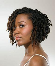 Dreadlock wavy bob hairstyle - thirstyroots.com: Black Hairstyles