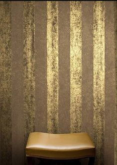 Gold Painted Walls, Gold Walls, Interior Wallpaper, Room Wallpaper, Home Interior Design, Interior Decorating, Painting Textured Walls, Creative Wall Painting, Venetian Plaster Walls