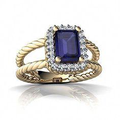 Diamond Chic Jaune Cluster Diamant Carré Femme Bague 14k Or Blanc 2.08ct