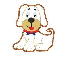 Puppy Applique Machine Embroidery Design, Emboidery Dog, Applique dog, Applique dog Design, 4X4 5X7 6X10, Instant download