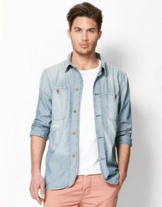 a2be0b6ee4ba2 Men s denim shirt Denim Shirt Style