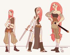Character Design - Clara the Sword Viking by MeoMai.deviantart.com on @DeviantArt