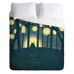 Belle13 Totoros Dream Forest Duvet Cover | DENY Designs Home Accessories
