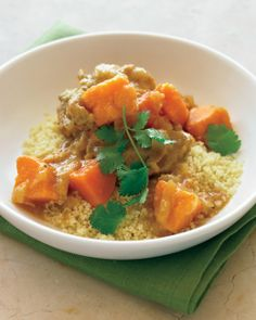 Moroccan Chicken Stew with Sweet Potatoes Recipe | Cooking | How To | Martha Stewart Recipes