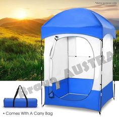 XL Outdoor Portable Camping Changing Tent With 2 Windows, Pocket bag & Removable