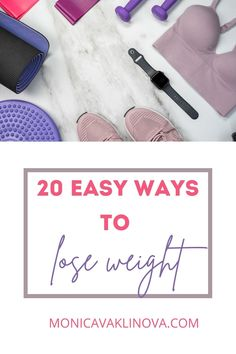 Find these 20 easy ways to lose weight and keep the weight off. Become in the best shape of your life. #loseweight #weightlosstips #howtoloseweight Ways To Lose Weight, Weight Loss Tips, Too Much Stress, Coconut Benefits, Bad Food, I Can Do It, Sports Activities, Pcos, Hiit