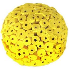 Yellow Large Decorative Balls by Angel Aromatics | Available at http://www.angelaromatics.com.au/scented-bowl-decorations/yellow-decorative-balls-to-hang-from-ceiling
