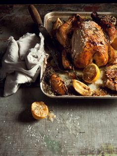 Roast Chicken with Preserved Lemon, Rosemary, and Garlic