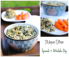 Mayo Free Spinach and Artichoke Dip (+ 4 New Ideas for How to Serve it!) ---Clean Cuisine