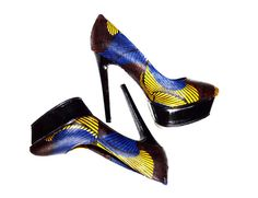Ankara African Print Shoes Ankara Shoes Wedding by ZabbaDesigns, $80.00