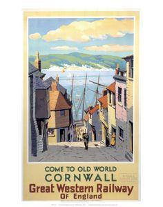 vintage cornwall poster
