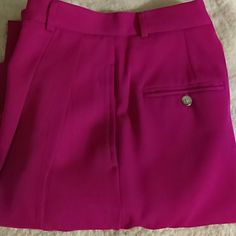 Ralph Laren Pants flaw om pic #4 Hot Pink 100% Wool Ralph Lauren Pants Straight Leg