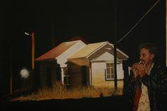 'Stranger in a Strange Town.' oil on canvas