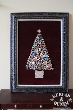 Modern Costume Jewelry Christmas Tree....Brooch Tree. Many things you can do with Grandma's Pins and Earrings :)