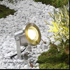 solar spot lighting for rock and flower bed area lighting flower bed