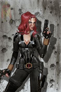 Black Widow by Jorge Molina Comic Art