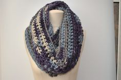Chunky long crocheted cowl by DaisyElizaDesigns on Etsy