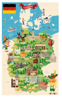 "Consulta este proyecto @Behance: ""GERMANY CARTOON MAP"" https://www.behance.net/gallery/34498933/GERMANY-CARTOON-MAP"