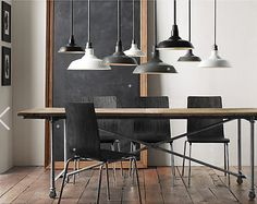 Love this hovering flock of pendants. @SmallSpacesRestorationHardware