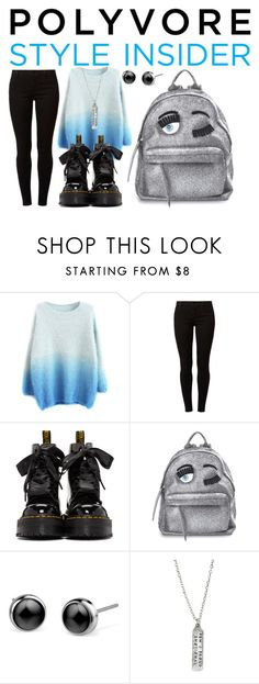 """""""Rule School: Cool Backpacks"""" by lululafitte on Polyvore featuring moda, Dorothy Perkins, Dr. Martens, Chiara Ferragni, backpacks, contestentry y PVStyleInsiderContest"""