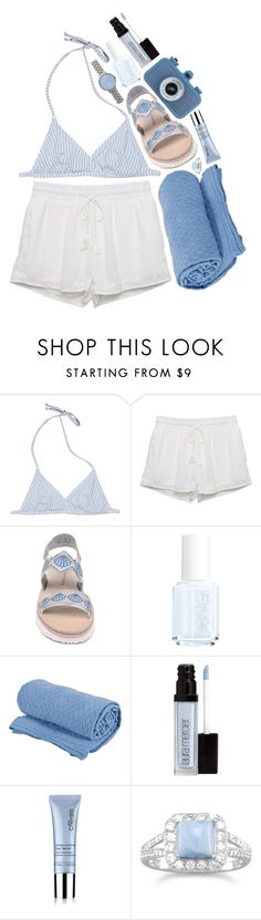 """beachhh"" by neurotic-mind ❤ liked on Polyvore featuring J.Crew, Kendall + Kylie, Markus Lupfer, Essie, Saro, Laura Mercier, skinChemists, BillyTheTree and Skagen"