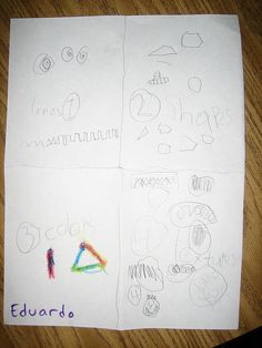 Elements of Art with pencil and crayon (1.line 2.shape 3.color 4.texture)