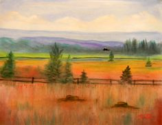 Quiet Valley in Pastel