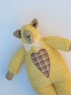 Handmade Easter Sheep  Lamb toy in Tilda by HappyDollsByLesya, $24.50