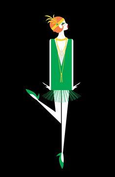 Flapper Illustration | Lainey Lee                                                                                                                                                     More                                                                                                                                                                                 More