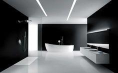 Minimalist Bathroom Design Idras with black wall
