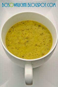 Creamy Zucchini Soup / Ziołowy krem z cukinii wg 5 Przemian www.bosowkuchni.blogspot.com Boso w Kuchni