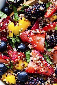 9 Fruit Salad Recipes Designed For Breakfast - Honey Lime Quinoa Fruit Salad