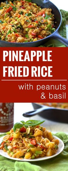 Pineapple Fried Rice with Basil and Peanuts