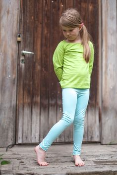 Lasten kotimaset leggingsit - tyttöjen legginsit   Poutapukimo   Poutapukimo