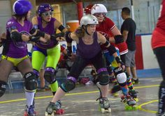 Taos Whiplashes collide with Femme Fatale Roller Dolls