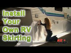RV Skirting and Fifth Wheel RV Skirting - Winterize with RV Skirting and Save - YouTube
