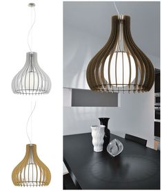 Three colour options and three sizes. Great for many places in the home. Ceiling Lighting, Wood Slats, Glass Globe, Dark Wood, Glass Shades, Slate, Opal, Colour, Living Room