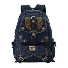 Cheap casual school bags, Buy Quality men backpack directly from China best backpacks Suppliers: Korean Style Men Backpack Multi Function Wash Denim Mens Casual School Bags 2017 Best Selling Backpacks Large Space Denim Backpack, Rucksack Backpack, Fashion Backpack, Designer Inspired Handbags, Shoulder Backpack, Wholesale Handbags, Casual Bags, Bag Sale, School Bags