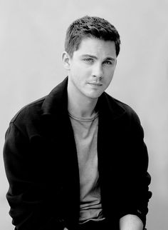 Logan Lerman so very handsome with lovely eyes.