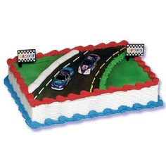 Logan wants a NASCAR cake this year. I like this one and it's red, white, and blue.