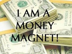 Money flows easily and constantly into my accounts. My Blessings are used to bless others. Thank you  Creator of all. I AM ALL THAT I AM!
