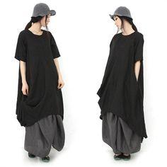 Women summer loose short sleeve dress