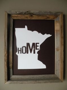 Minnesota Home Print by fortheloveofmaps on Etsy
