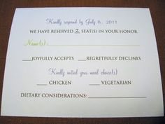 5 types of wedding rsvp card wording wedding rsvp pinterest rsvp wording option filmwisefo