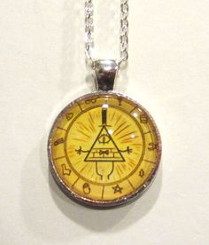 Gravity Falls Bill Cipher necklace